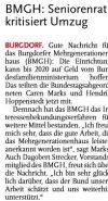 03.09.2016 HAZ - BMGH Seniorenrat kritisiert Umzug