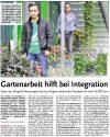 22.09.2016 HAZ - Gartenarbeit hilft bei Integration