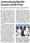 07.10.2016 HAZ - Unternehmerfamilie Cramer erhält Preis