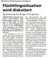 09.03.2016 MS - Flüchtlingssituation wird diskutioert